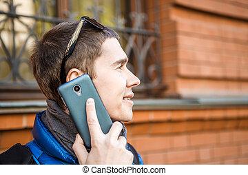 話し, 人, 電話