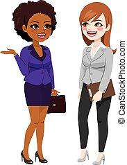 話し, 仕事, 女性実業家