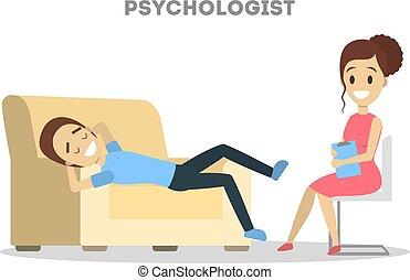 話し, 心理学者, 女性, 人