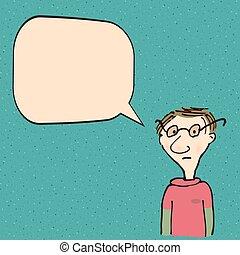 話し, 漫画, 人