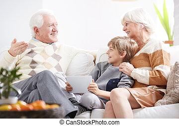 話し, 祖父母