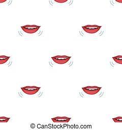 話すこと, 口, アイコン, 中に, 漫画, スタイル, 隔離された, 白, バックグラウンド。, interpreter, そして, translator, シンボル, 株, ベクトル, illustration.