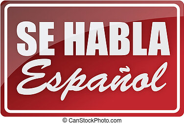 話す, 私達, 印, イラスト, スペイン語