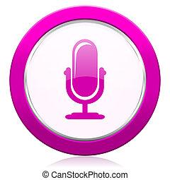 話筒, 簽署, 紫色,  podcast, 圖象