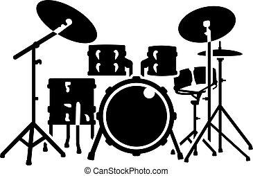 詳しい, セット, ドラム