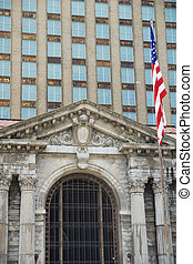 詳しい, 少佐, 古い, 州, 合併した, 第5, -, 駅, ターミナル, ∥そうするかもしれない∥, ミシガン州の旗...