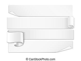 詳しい, 現実的, 白, 曲がった, ribbon.