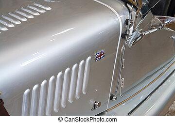 詳細, の, イギリス, クラシックなスポーツ, 自動車, ユニオンジャック
