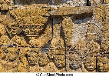 詳細, 寺院, borobudur