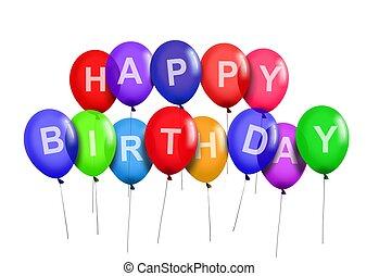 誕生日おめでとう, パーティー, 風船