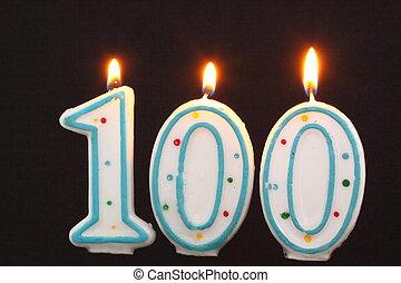 誕生日ろうそく, 100
