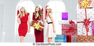 誘うこと, 贈り物, 若い女性たち