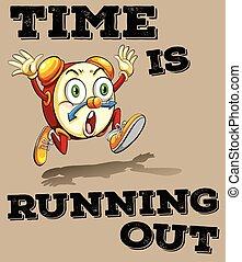 說, 時間, 是, 跑, 在外