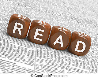 読まれた, さいころ, ショー, フィクション, non-fiction, そして, 読み書き能力