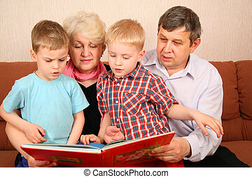 読まれた, 祖父母, 本, grandcgildren