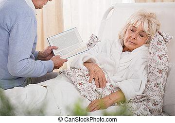読む本, 妻