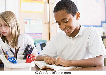 読書, 本, クラス, 学童