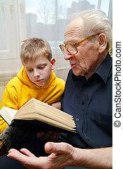 読書, 祖父