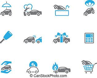 調子, デュオ, 自動車, アイコン, -, 保険