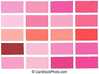 調子, 陰, 背景, ピンク, 色