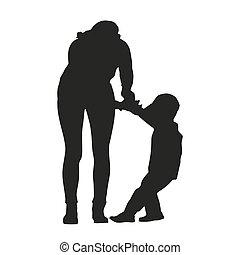 論争, 母, 子供