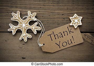 謝謝, 標簽, 由于, 圣誕節裝飾