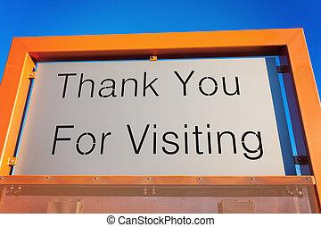 謝謝, 為, 訪問