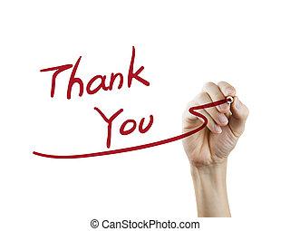 謝謝, 詞, 寫, 所作, 手