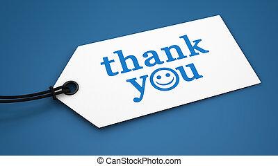 謝謝, 顧客, 消息, 標簽, 標簽