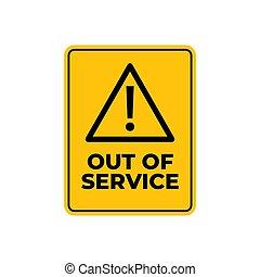 警告, 标志。, 服务, 在外