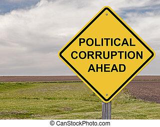 警告, -, 腐败, 前面, 政治