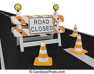 警告, 道は 印を 閉めた