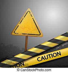 警告, 金属の印