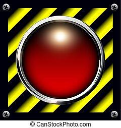 警報, ボタン, 背景