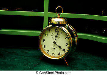警報, 古い, 金, 時計