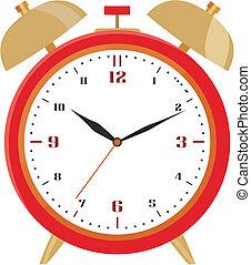 警報, 赤, 時計