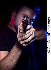 警官, ∥あるいは∥, 犯罪者, 保有物, a, 銃