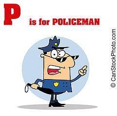警官, 警官, p, テキスト