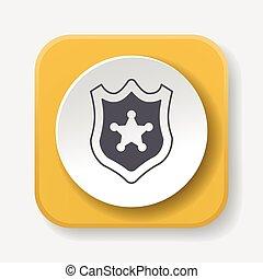 警察は badge, アイコン