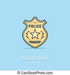 警察は badge