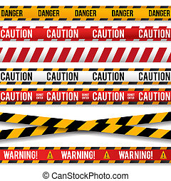 警察, テープ, lines., 注意, 線, 警告