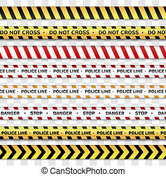 警察, 交差点, lines., 注意, ない, 線