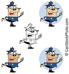 警察, 保有物 クラブ, 士官