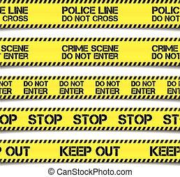 警察, 注意, テープ