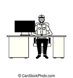 警察, 運作的 辦公室, 人