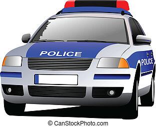 警察, c, 車。, 市の, transport.