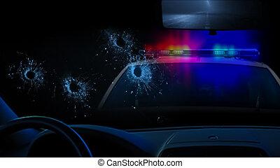 警察, shootout