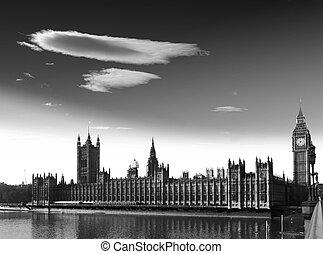 議会, ベン, 家, 大きい, 川,  thames