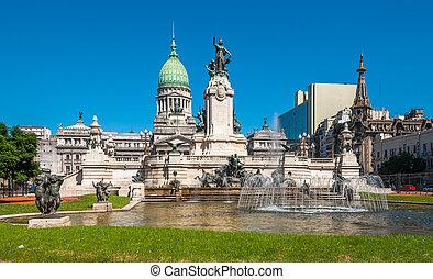 議会, 国民, 建物, buenos, アルゼンチン, aires