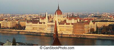 議會建築物, 在, 布達佩斯